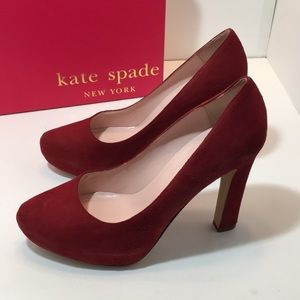 Kate Spade Russett Kid Suede High Heels Pumps 7.5